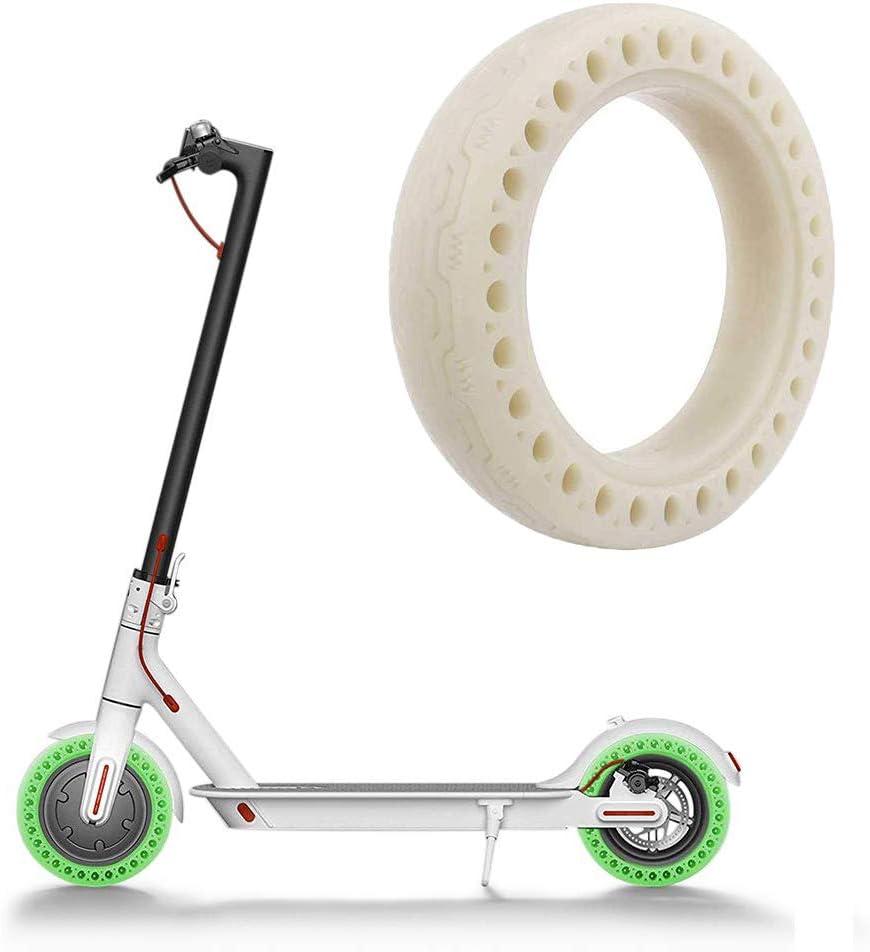 Linghuang M365 Roller Rad Bienenwaben Gummi Vollreifen 8,5 Zoll 8 1//2 /× 2 Leucht Stofflampen Reifen Schlauchloser Leuchtender Vollreifen f/ür Xiaomi M365 Elektrischen Roller