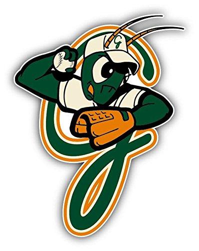 Greensboro Grasshoppers Grasshopper MILB野球USAスポーツロゴアート装飾ビニールステッカー4
