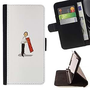 Momo Phone Case / Flip Funda de Cuero Case Cover - Hombre asiático Arte Chino de pintura japonesa 3D - LG G4c Curve H522Y (G4 MINI), NOT FOR LG G4