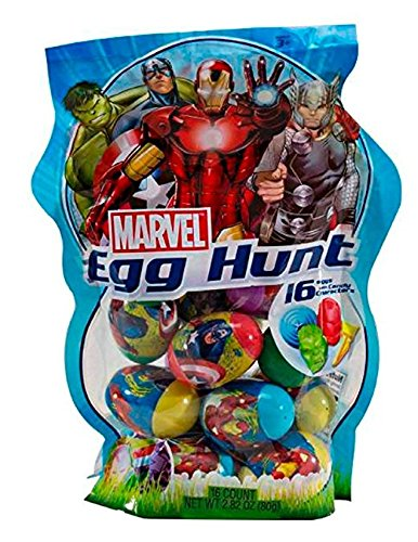 Marvel Avengers Assemble Egg Hunt with Candy, 22 Avengers Eggs with Character -
