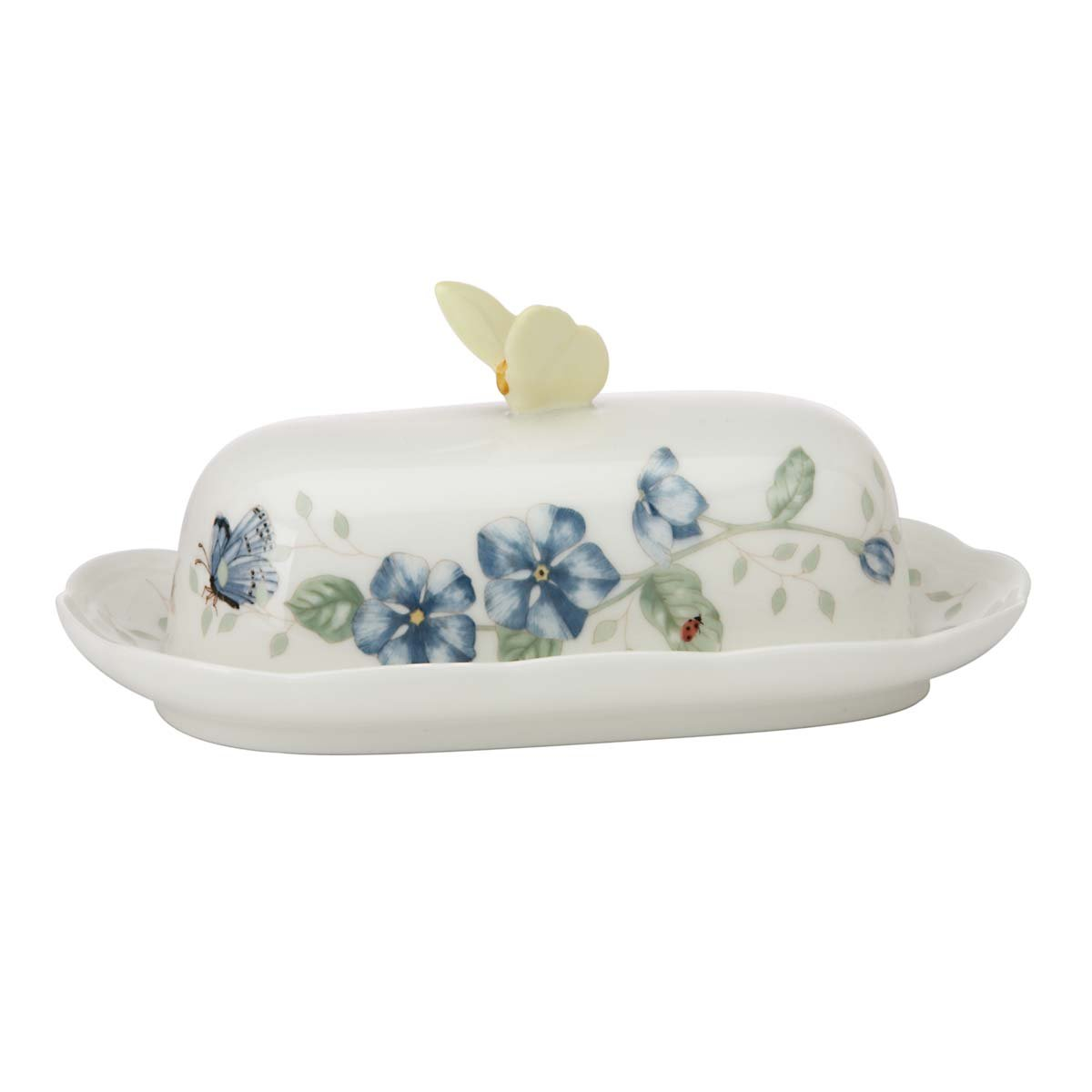 Lenox Butterfly Meadow Oblong Covered Butter Dish