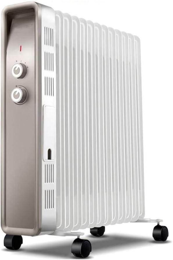 2500W eléctrica energéticamente eficiente radiador de calefacción del termostato ajustable llenos de aceite radiador eléctrico calentador con 3 configuraciones de calor y el funcionamiento silencioso