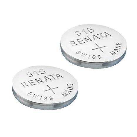 2 pilas Renata para reloj de pulsera, fabricación suiza, de dióxido de plata,