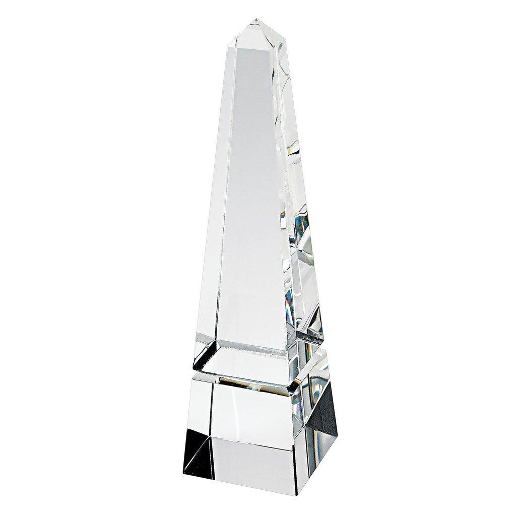 Badash H131 10'' Handcrafted Slightly Narrow Crystal Obelisk