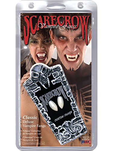 ScareCrow Mens Vampire Fangs Halloween Party Costume Prosthetics White (Scarecrow Vampire Fangs)