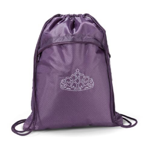 Thirty One Cinch Sac in Plum Gingham Pop -