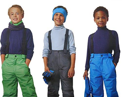 Kinder Jungen SKIHOSE Schneehose Wintersport Skianzug Winter Hose Anzug, Farbe:Schwarz;Größe:158/164