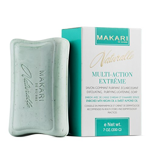 Makari Naturalle Multi-Action Extreme Skin Lightening Soap 7oz. - Exfoliating & Moisturizing Bar Soap With Argan Oil & SPF 15 - Hydrating & Regulating Treatment for Dark Spots, Acne Scars & Blemishes