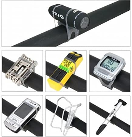DSYJ MTB Cycling Bike Bicycle Silicone Band for Flash Light Flashlight Phone Strap Tie Ribbon Mount Holder
