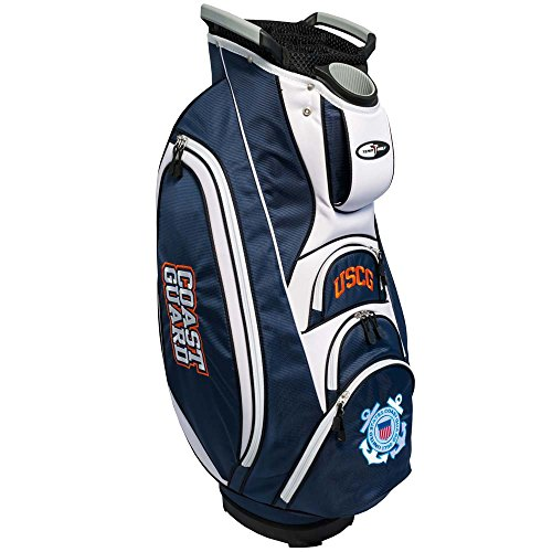 - Team Golf Military Coast Guard Victory Golf Cart Bag, 10-Way Top with Integrated Dual Handle & External Putter Well, Cooler Pocket, Padded Strap, Umbrella Holder & Removable Rain Hood