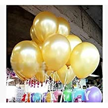 OHTOP 100Pcs 10 inch Colorful Pearl Latex Balloon Celebration Party Wedding Birthday (Gold)