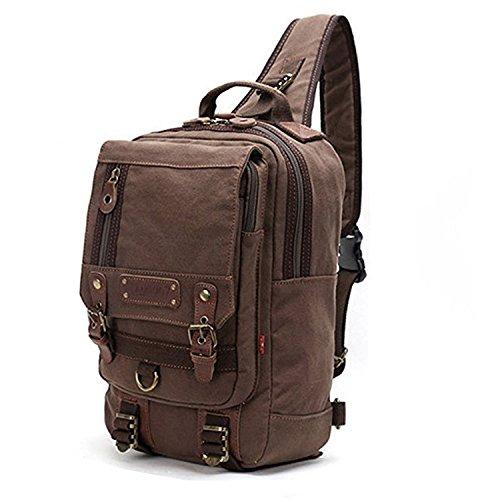 Canvas Cross Body Bag Messenger Shoulder Bag Sling Backpack fits 13-inch Laptop