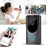 Qenci Wireless Door Bell 720P Visual Smart Doorbell Alarm WiFi Mobile Phone Remote Monitoring Kits