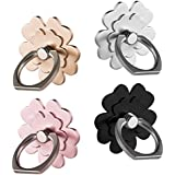 Phone ring stand holder 4 package Metal Finger Grip Stand Holder Ring,Car Mount 360°Rotation Phone Ring Grip for Samsung Galaxy iphone Tablet PC Smartphone phone ring (flower)