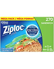 Ziploc Snack and Sandwich Bags for On-the-Go Freshness, Easy Open Tabs for Easier Grip, Open, and Close, Mega Pack, 270 Count