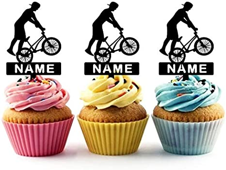 Fantastic Ta0073 Bicycle Boy Extreme Silhouette Party Wedding Birthday Personalised Birthday Cards Petedlily Jamesorg