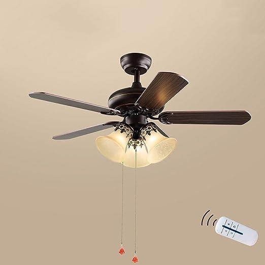 XUEPING Luz del Ventilador De Techo Araña Americana del Hogar ...