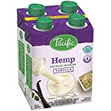 Pacific Foods Hemp Non-Dairy Beverage, Vanilla, 8-Ounce Boxes, (Pack of 4)