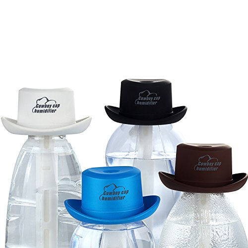 Air Purifier Humidifier Mini Essential Oil Diffuser AOTOM Portable Creative Cowboy Hat Humidifier with USB Charge for Home Office Car Bedroom SPA Travel (Black) by AOTOM (Image #1)