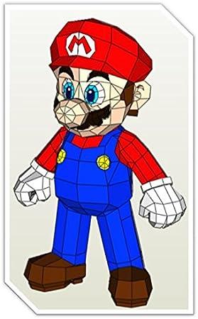 Paperglue - Figura Completa Mario Bros recortable Puzzle 3D ...