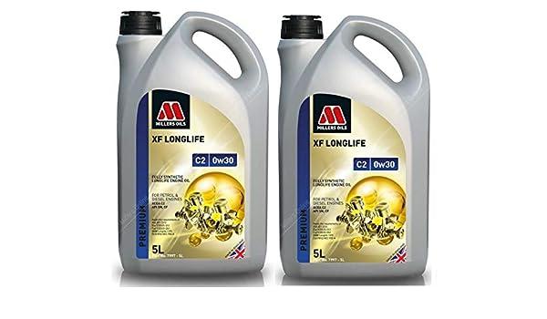 Millers Oils XF Longlife 0w30 C2 SN Aceite de Motor Totalmente sintético, 10 litros: Amazon.es: Coche y moto