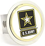 US Army Chrome Trailer 2'' Hitch Plug Cover Cap Stainless Steel