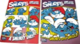2 The Smurfs Coloring & Activity Book A Smurfy Day! FREE 24pc Vivid Crayons!