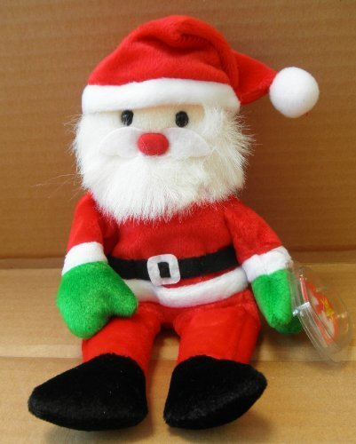 TY Beanie Babies Santa Stuffed Animal Plush Toy - 8 inches tall from Ty