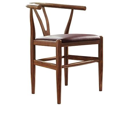Amazon.com: LJFYXZ Chair Curved backrest Sponge Cushion Solid Wood ...