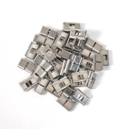 Wire 66 Block (66 Wiring Block Bridge Clips - 50 Pieces Per Bag for Punch Down Telecom Bridging, Resuable, Connects Adjacent Terminals)