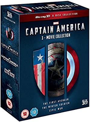 Captain America 1-3 Triplepack 3D Italia Blu-ray: Amazon.es: Cine ...