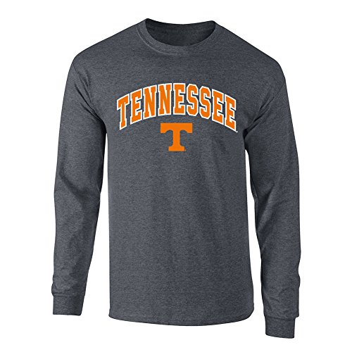 Elite Fan Shop NCAA Men's Tennessee Volunteers Long Sleeve Shirt Dark Heather Arch Tennessee Volunteers Dark Heather - Pack Tennessee Volunteers Tee