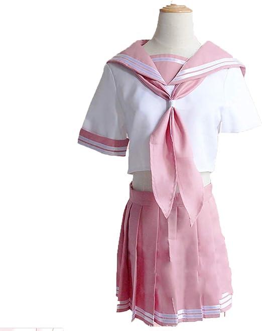 YKJ Personajes de Anime Juegos de rol Rosa JK Uniforme Escolar ...
