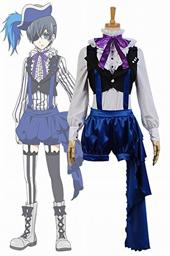 Black Butler Kuroshitsuji 3 Earl Ciel Phantomhive Uniform Dress Cosplay Costume by (Ups Uniform Costumes)