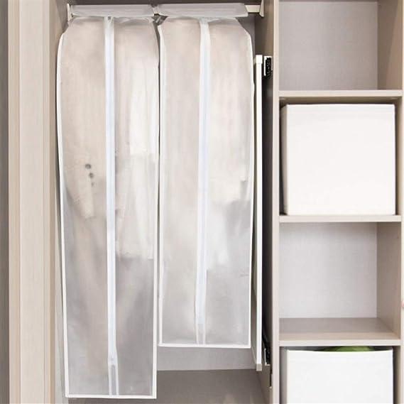 GeWu888 Ropa Antipolvo La Ropa Cubierta de Polvo Armario Ropa colgada Protector de Polvo Transparente Bolsa de Ropa para el hogar (Color : White, Size : 60x30x105cm): Amazon.es: Hogar