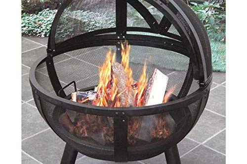 Landmann USA 28925 Ball of Fire Outdoor Fireplace, Black - Make sure this fits                by entering your model number. Outdoor fireplace with spherical spark screen Unobstructed 360-degree view of the fire - patio, outdoor-decor, fire-pits-outdoor-fireplaces - 51McNDOlTtL -
