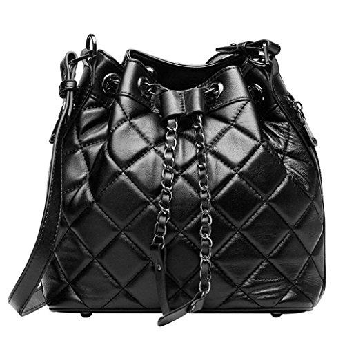 mouton black TINGTING sac bandoulière à de main sac en peau sac à messager carreaux Mme sac diamant à BqwB04