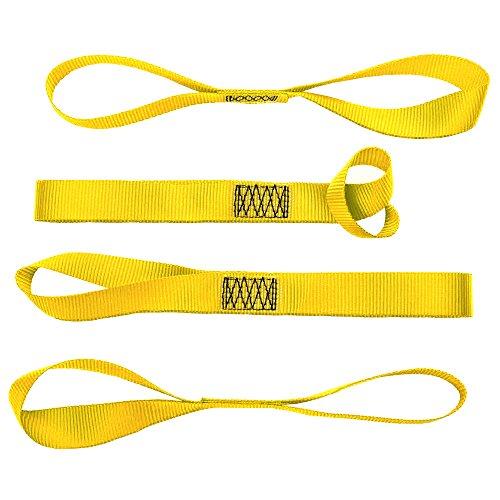 Soft Loop Tie Down Straps(set of 4)