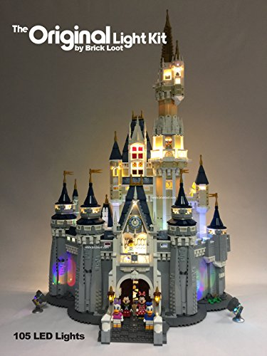 Disney Castle - Brick Loot Deluxe Version - Disney Castle Lighting Kit for YOUR set 71040 by LEGO SET NOT INCLUDED