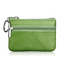 Fashion Story Men Women Card Change Key Holder Wallet Coin Purse Zip 10.5*7.5cm (Green)