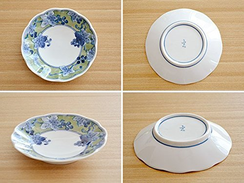 Table ware East Midoriaya Grapes Chrysanthemum-Type Small Dish