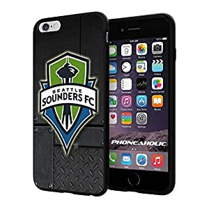 diy zhengSoccer MLS Seattle Sounders FC Logo, Cool Ipod Touch 4 4th Smartphone Case Cover Collector iphone TPU Rubber Case Black