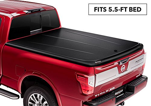 UnderCover SE One-Piece Truck Bed Tonneau Cover | UC5076 | fits 2016-2019 Nissan Titan 5.5ft Short Bed Crew