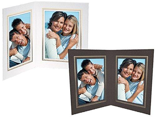 Black Cardboard Double Photo Folder Frame/Gold foil Border Sold in 25s - 4x6