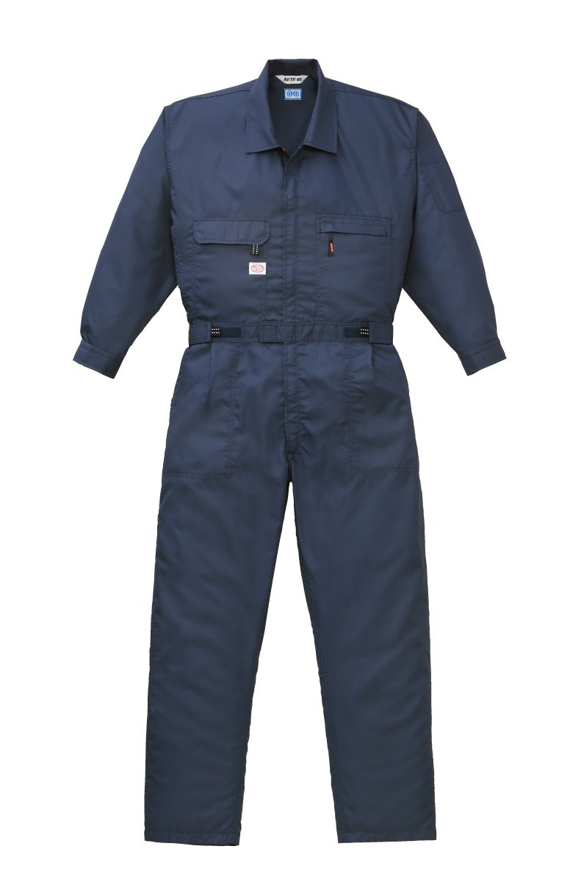 山田辰 空調服用 長袖つなぎ服 9820 ネイビーブルー 4L (ファンケーブルセット/バッテリー別売) B00R2OWX98 4L|ネイビーブルー ネイビーブルー 4L