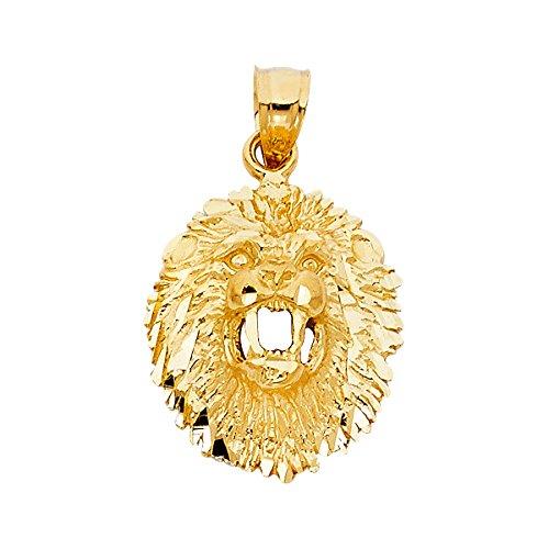Tgdj 14k yellow gold lion pendant height 21 mm width 18 mm tgdj 14k yellow gold lion pendant height 21 mm width 18 mm by aloadofball Choice Image