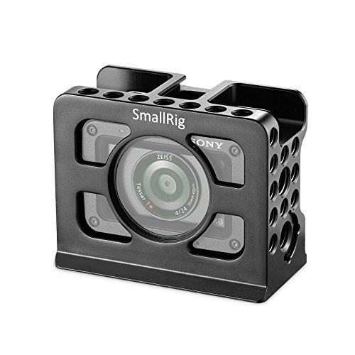 SmallRig Cage for Sony RX0 with Built-in Cold Shoe and 1/4 3/8 Threaded Holes - 2106 by SmallRig