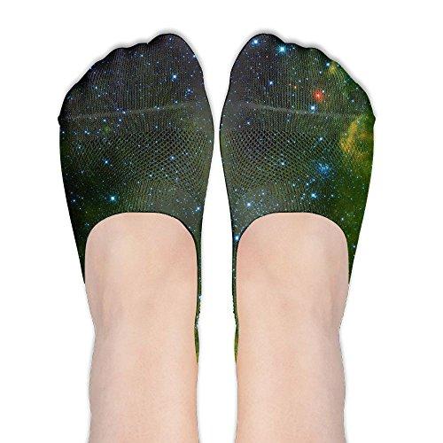 Rei Womens Glove (Womens Socks Casual Low Cut No Show Liner Boat Green Space Nebula Non Slip Hidden Flat Boat)