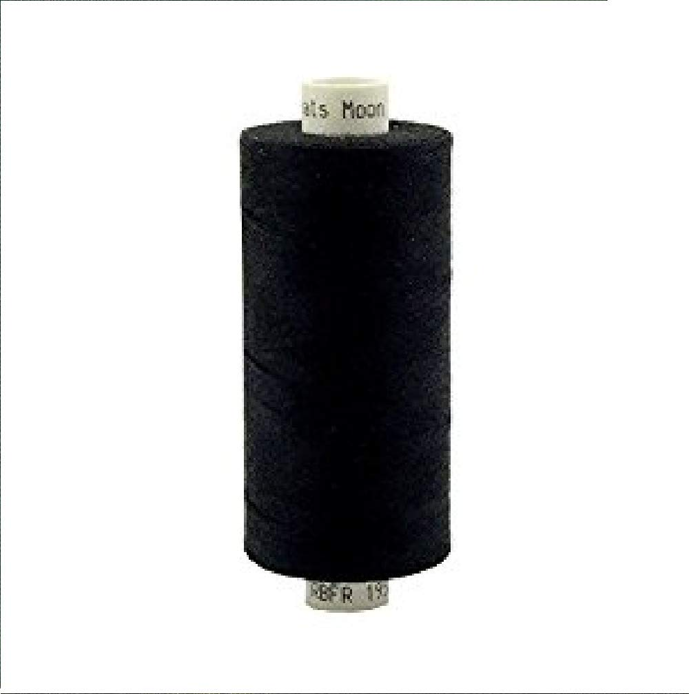 Coats Moon 120s Sewing Machine Polyester Thread Cotton 1000yds £1.70 per reel - Free Carriage - Black
