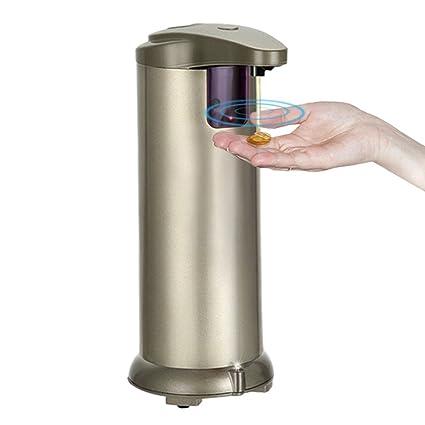Collen Dispensador de Jabón Líquido Automático para Cocina Baño de Acero Inoxidable 250Ml